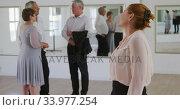 Купить «Caucasian senior woman spending time in a ballroom», видеоролик № 33977254, снято 8 ноября 2019 г. (c) Wavebreak Media / Фотобанк Лори
