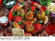 Летние голубцы. Армянская кухня. Стоковое фото, фотограф Марина Володько / Фотобанк Лори