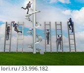 Купить «Competition concept with businessman beating competitors», фото № 33996182, снято 3 июля 2020 г. (c) Elnur / Фотобанк Лори