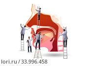 Otolaryngology concept with doctors treating patient. Стоковое фото, фотограф Elnur / Фотобанк Лори