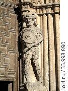 Avila, Catedral de Cristo Salvador (Cathedral of the Saviour). Western gate with sauvage Magog. Avila city, Castilla y Leon, Spain. Стоковое фото, фотограф J M Barres / age Fotostock / Фотобанк Лори