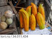 Купить «People selling Papayas along the Trans-Atlantic Highway in Guatemala.», фото № 34011434, снято 9 декабря 2010 г. (c) age Fotostock / Фотобанк Лори