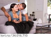 Husband kissing wife. Стоковое фото, фотограф Яков Филимонов / Фотобанк Лори
