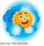 Cheerful sun peeks from the clouds. Стоковое фото, фотограф Zoonar.com/Dmitry Nikitin / easy Fotostock / Фотобанк Лори