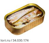Preserved mackerel fish. Стоковое фото, фотограф Яков Филимонов / Фотобанк Лори