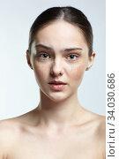 Купить «Headshot of emotional female face portrait with incredulous facial expression.», фото № 34030686, снято 8 мая 2020 г. (c) Serg Zastavkin / Фотобанк Лори