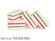 marshmallows jelly isolated on a white background. Стоковое фото, фотограф Nataliia Zhekova / Фотобанк Лори