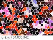 Купить «contemporary creative geometric abstract background», фото № 34030942, снято 11 апреля 2019 г. (c) Nataliia Zhekova / Фотобанк Лори