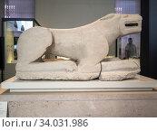 Leona de Baena (Córdoba). Museo Arqueológico Nacional. Madrid. España. (2018 год). Редакционное фото, фотограф David Miranda / age Fotostock / Фотобанк Лори