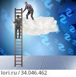 Купить «Concept of mentorship in business and career progression», фото № 34046462, снято 5 июля 2020 г. (c) Elnur / Фотобанк Лори