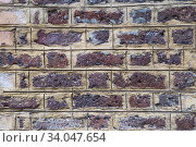 Red grunge brick wall background texture. Стоковое фото, фотограф Nataliia Zhekova / Фотобанк Лори