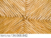 Texture of a traditional handcrafted technic of chair construction made with rattan palm plant by the Portuguese. Стоковое фото, фотограф Zoonar.com/Mauro Rodrigues / easy Fotostock / Фотобанк Лори