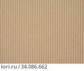 Купить «Brown corrugated cardboard useful as a background, soft pastel colour», фото № 34086662, снято 6 июля 2020 г. (c) easy Fotostock / Фотобанк Лори