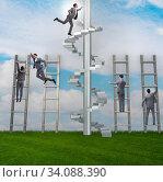 Купить «Competition concept with businessman beating competitors», фото № 34088390, снято 3 июля 2020 г. (c) Elnur / Фотобанк Лори