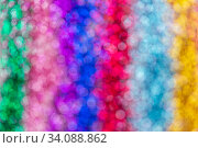 multicolored glitters or sequins bokeh background. Стоковое фото, фотограф Syda Productions / Фотобанк Лори