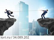Купить «Boss holding his employee in retention concept», фото № 34089202, снято 3 августа 2020 г. (c) Elnur / Фотобанк Лори