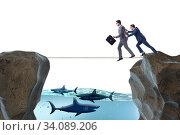 Купить «Concept of unethical business competition», фото № 34089206, снято 5 июля 2020 г. (c) Elnur / Фотобанк Лори