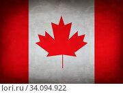 Купить «Canadian flag painted on the wall. Canada flag background», фото № 34094922, снято 14 июля 2020 г. (c) age Fotostock / Фотобанк Лори