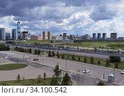 Купить «Астана, Казахстан - 2020.06.27: городской пейзаж», фото № 34100542, снято 28 июня 2020 г. (c) Максим Гулячик / Фотобанк Лори