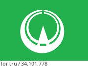 Флаг поселка Татесина. Префектура Нагано. Япония. Стоковая иллюстрация, иллюстратор Владимир Макеев / Фотобанк Лори