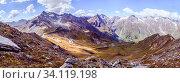 Panoramic picture of the Großglockner mountain range in Austria, Summer time. Стоковое фото, фотограф Zoonar.com/Patrick Daxenbichler / easy Fotostock / Фотобанк Лори
