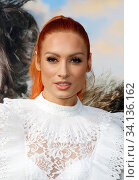 Becky Lynch at the Los Angeles premiere of 'Dolittle' held at the Regency Village Theatre in Westwood, USA on January 11, 2020. Стоковое фото, фотограф Zoonar.com/Lumeimages / age Fotostock / Фотобанк Лори