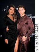 Nick Jonas and Priyanka Chopra at the premiere of Amazon Prime Video's 'Chasing Happiness' held at the Regency Bruin Theatre in Westwood, USA on June 3, 2019. Стоковое фото, фотограф Zoonar.com/Lumeimages.com / age Fotostock / Фотобанк Лори