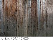 Купить «Close up background texture of old vintage rustic weathered wooden panel with vertical planks», фото № 34145626, снято 10 июля 2020 г. (c) easy Fotostock / Фотобанк Лори