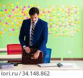Купить «Businessman with many conflicting priorities», фото № 34148862, снято 23 мая 2018 г. (c) Elnur / Фотобанк Лори