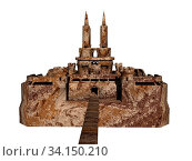 Steinerne Festung mit Türmen. Стоковое фото, фотограф Zoonar.com/Dr. Norbert Lange / easy Fotostock / Фотобанк Лори