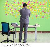 Купить «Businessman with many conflicting priorities», фото № 34150746, снято 24 мая 2018 г. (c) Elnur / Фотобанк Лори