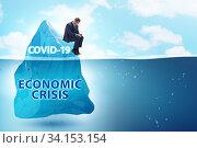 Economic crisis concept in coronavirus covid-19. Стоковое фото, фотограф Elnur / Фотобанк Лори