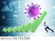 Concept of economic crisis from coronavirus covid-19. Стоковое фото, фотограф Elnur / Фотобанк Лори