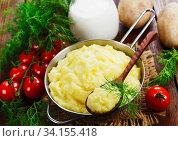 Mashed potato with milk. Стоковое фото, фотограф Надежда Мишкова / Фотобанк Лори