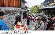 Купить «Slow motion video of tourist people on Sanneizaka street in Kyoto , Japan», видеоролик № 34155434, снято 15 июня 2020 г. (c) Serg Zastavkin / Фотобанк Лори