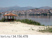Купить «View of the city Kastoria (Greece)», фото № 34156478, снято 24 августа 2017 г. (c) Татьяна Ляпи / Фотобанк Лори