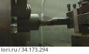 Купить «Piece of machinery in the workshop at a factory making hydraulic equipment», видеоролик № 34173294, снято 23 ноября 2019 г. (c) Wavebreak Media / Фотобанк Лори