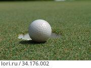 Купить «Golf ball on green tee», фото № 34176002, снято 11 июля 2020 г. (c) easy Fotostock / Фотобанк Лори