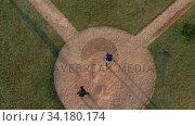 High angle view of baseball players during a match. Стоковое видео, агентство Wavebreak Media / Фотобанк Лори