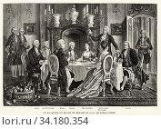 Banquet in honor Mozart (1756-1791). Haydn (1732-1809), Albrechtsberger (1736-1809), Salieri (1750-1825), Mrs. Cavalieri, Schikaneder, Mrs. Lange and Gluck... Стоковое фото, фотограф Jerónimo Alba / age Fotostock / Фотобанк Лори