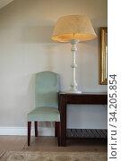 Купить «Modern design of lamp at home», фото № 34205854, снято 17 октября 2019 г. (c) Wavebreak Media / Фотобанк Лори