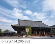 Mieido main hall of the Chion-in temple complex. Kyoto. Japan (2007 год). Редакционное фото, фотограф Serg Zastavkin / Фотобанк Лори