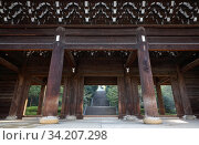 Chion-in sanmon gate. Kyoto. Japan (2007 год). Стоковое фото, фотограф Serg Zastavkin / Фотобанк Лори