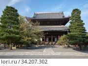 The Hobutsu-den hall at the Chion-in temple. Kyoto. Japan (2007 год). Стоковое фото, фотограф Serg Zastavkin / Фотобанк Лори