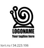 Купить «snail logo for your creativity», иллюстрация № 34223106 (c) Дмитрий Бачтуб / Фотобанк Лори