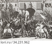 Lynch mob grabbing the de Witt brothers, Johan and Cornelis de Witt, August 20, 1672. From an anonymous engraving after a work by Romeyn de Hooghe. Стоковое фото, фотограф Classic Vision / age Fotostock / Фотобанк Лори