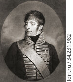 """Louis Napoléon Bonaparte, 1778 â. """"1846. Louis I, King of Holland, 1806 - 1810 and younger brother of Napoleon I, Emperor of the French. From a 19th century print by Charles Howard Hodges. Стоковое фото, фотограф Classic Vision / age Fotostock / Фотобанк Лори"""
