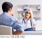 Patient at examination with female doctor. Стоковое фото, фотограф Elnur / Фотобанк Лори