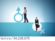 Woman sex discrimination concept at workplace. Стоковое фото, фотограф Elnur / Фотобанк Лори