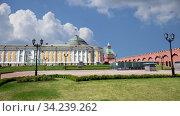 Купить «Inside of Moscow Kremlin, Russia (day, against the cloudy sky).», видеоролик № 34239262, снято 14 июля 2020 г. (c) Владимир Журавлев / Фотобанк Лори